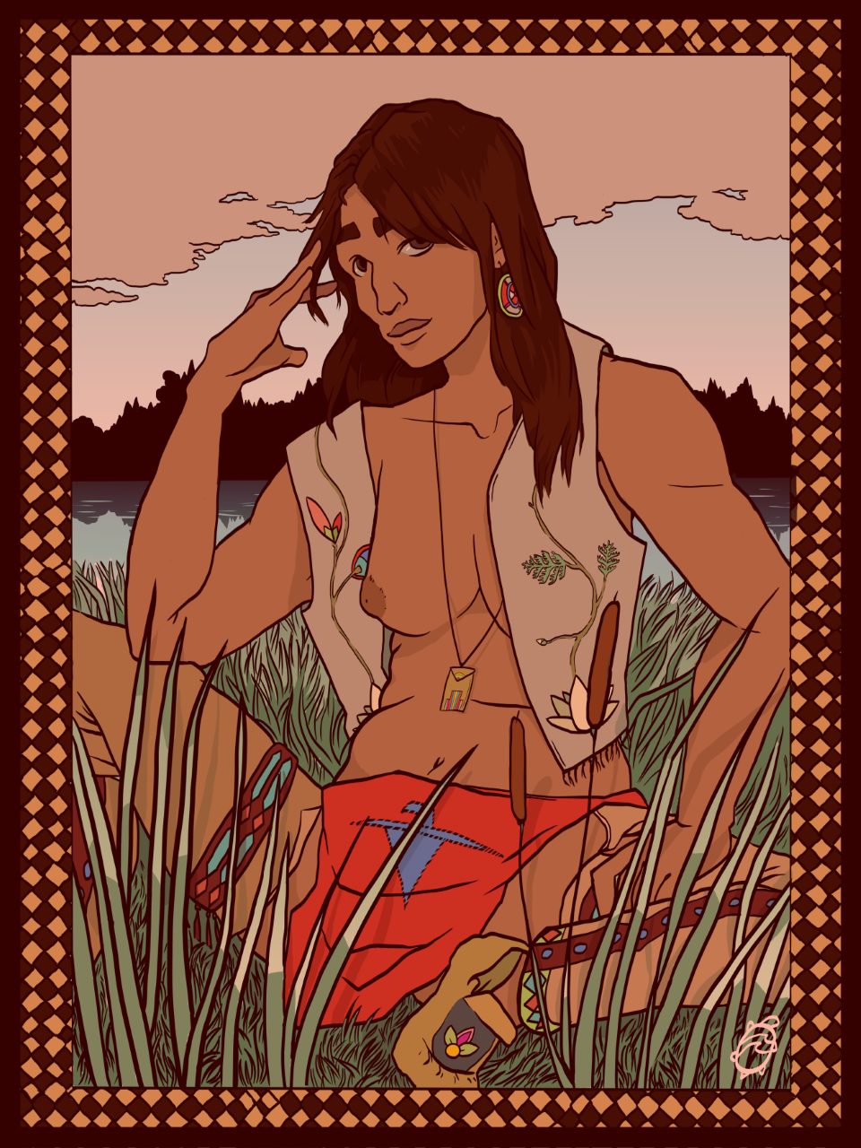 """""""Sovereign Bodies"""", Elijah Forbes He/Him Pronouns Odawa Two-Spirited Artist and Writer https://paintedturtleco.com/"""
